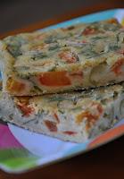 Torta de Liquidificador com Tomate, Azeitona e Salsinha (vegana)