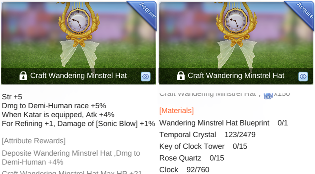 How to Unlock Wandering Minstrel Hat Blueprint in 'Ragnarok M