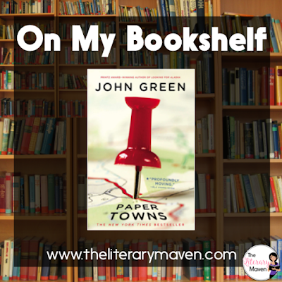 In Paper Towns by John Green, Margo enlists her longtime neighbor and childhood friend, Quentin, to help her exact revenge on her cheating boyfriend and her disloyal best friend. But after a night of thrilling hijinks, Margo disappears, leaving behind clues for Quentin to find her. As time passes, Quentin begins to wonder if the clues will lead him anywhere and if Margo actually wants to be found. Read on for more of my review and ideas for classroom application.