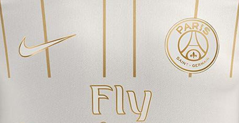 new arrival 98c92 fb454 White and Gold Nike PSG Away Kit Concept by Settpace - Footy ...