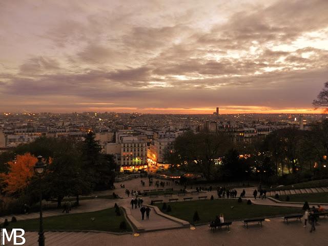 tramonto montmartre parigi