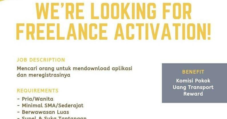 Lowongan Kerja Freelance Activation Pede Bandung April ...