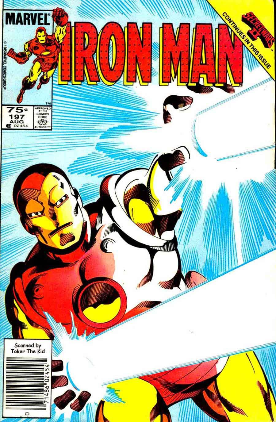 Iron Man v1 #197 marvel comic book cover art by John Byrne