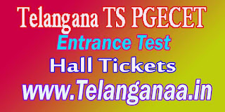 Telangana TS PGECET TSPGECET 2017 Hall Tickets  Halltickets Download