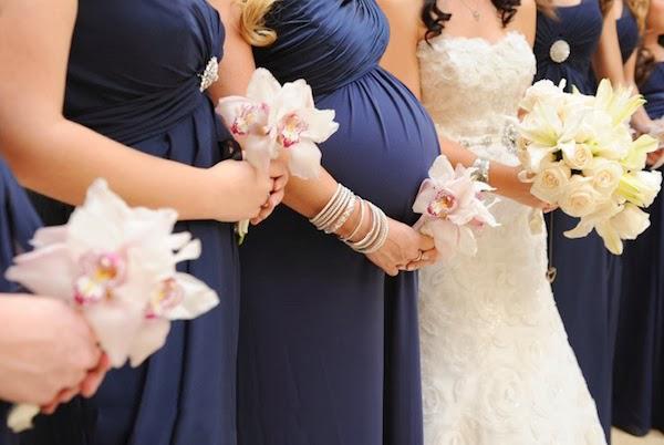 pregnant bridesmaids