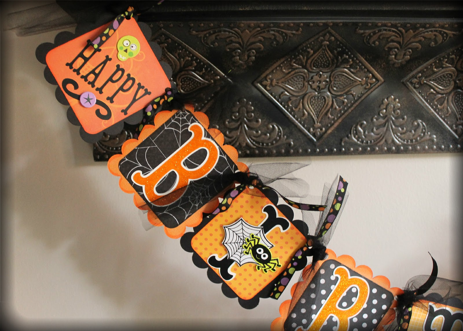 Simply Charming Crafts Halloween Birthday Banner