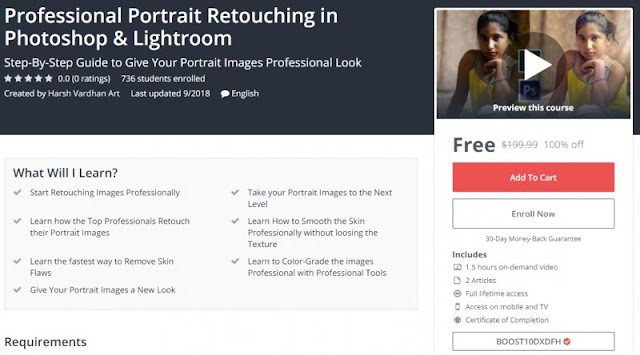 [100% Off] Professional Portrait Retouching in Photoshop & Lightroom| Worth 199,99$