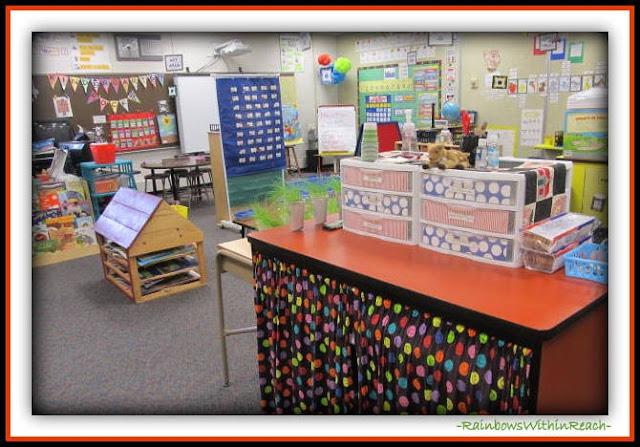 Kindergarten Classroom Set-up Overview  (Classroom Organization RoundUP at RainbowsWithinReach)