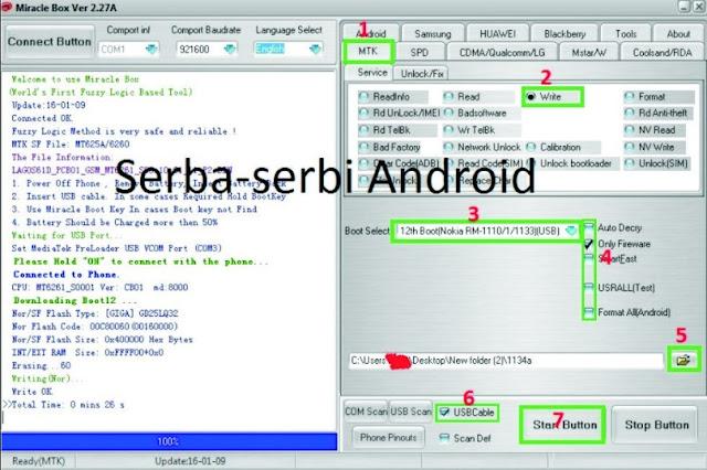 Cara Flash Nokia 105 RM 1134 Tanpa Box Tested 100%
