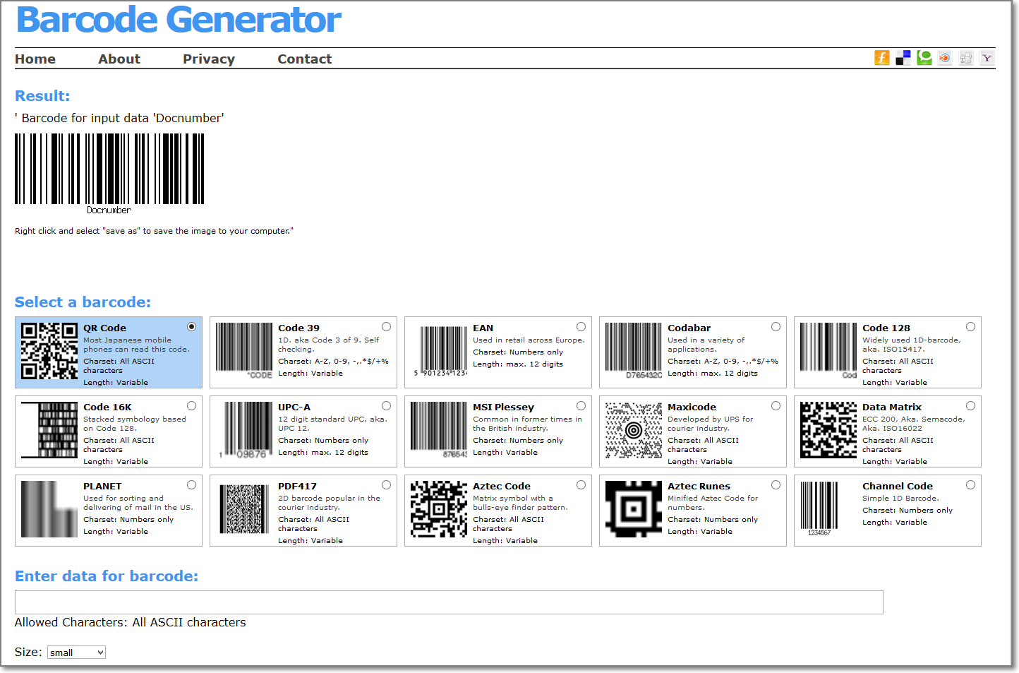 Online Barcode Generator