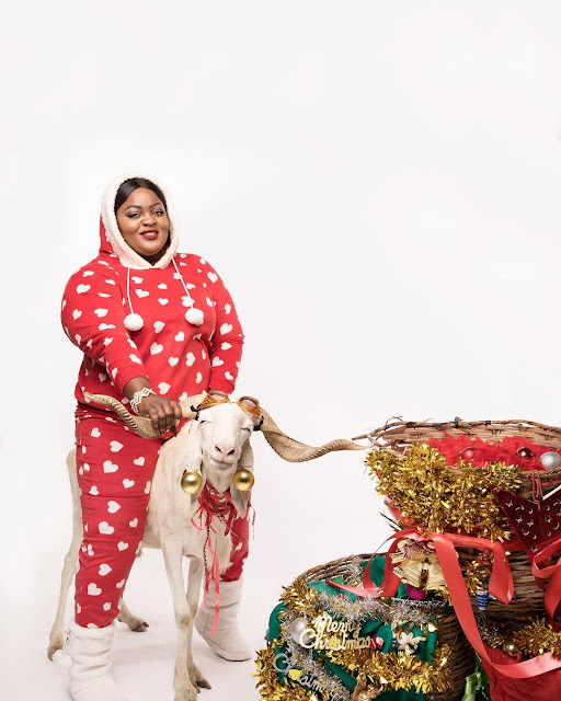 Eniola Badmus releases Christmas card