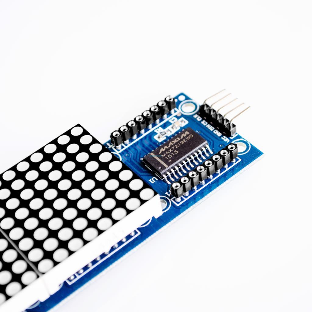 4in1 Dot Matrix Led Module 32x8 Pixel Max7219 To Arduino Belajar Digital Binary Clock With Thermometer Hygrometer Electronicslab Ini Memiliki 5 Pin Interface Vcc 5v Dc In Gnd 0v Ground Din Data Sda Mosi Cs Shift Ss Clk Sck