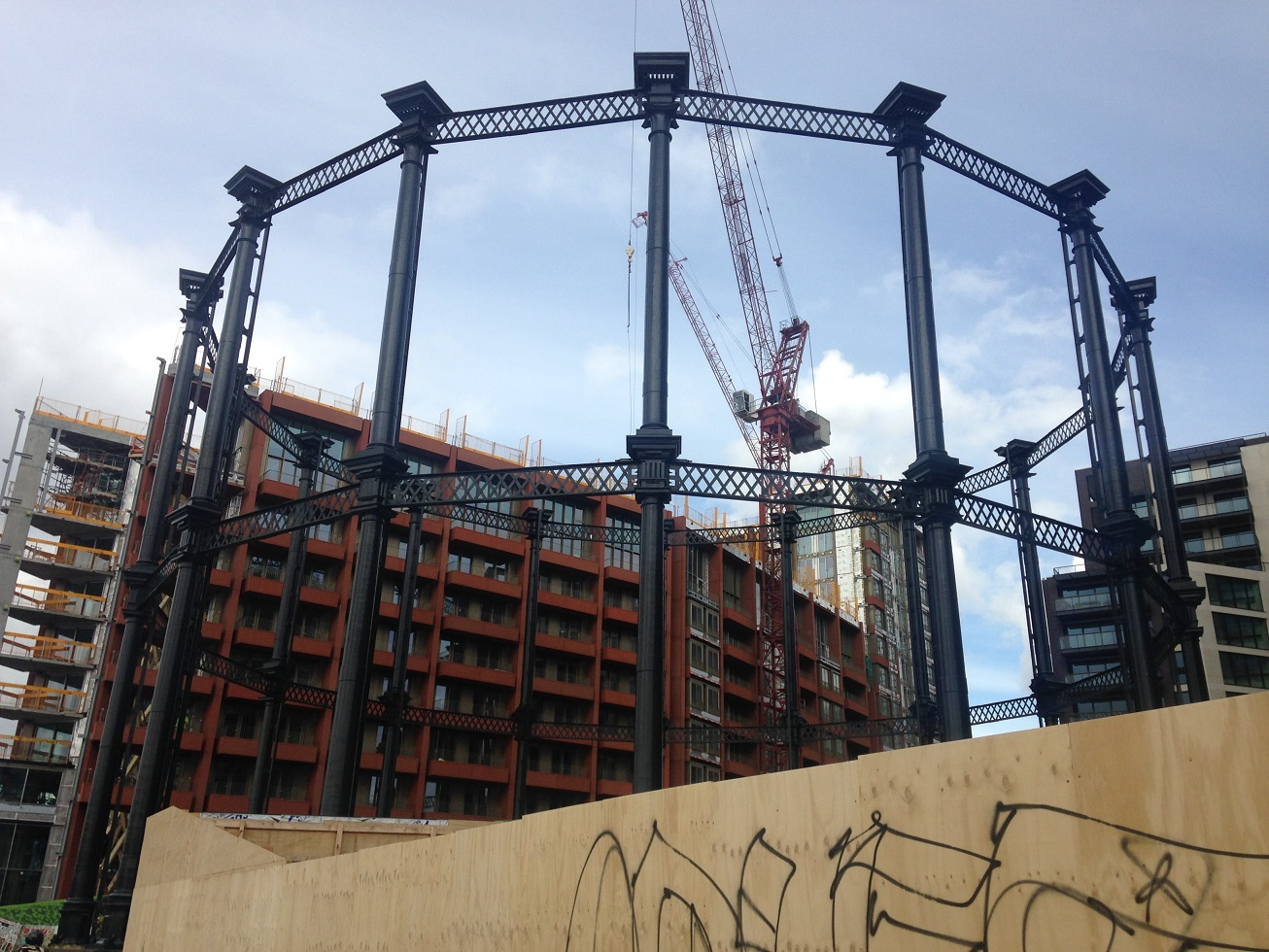 Gas holder, Kings Cross, London