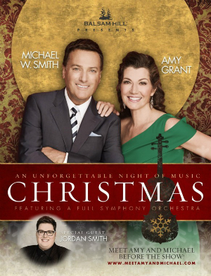 Michael W. Smith, Amy Grant and Jordan Smith in concert
