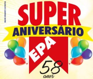 Cadastrar Promoção EPA Supermercados 2017 Aniversário 58 Anos