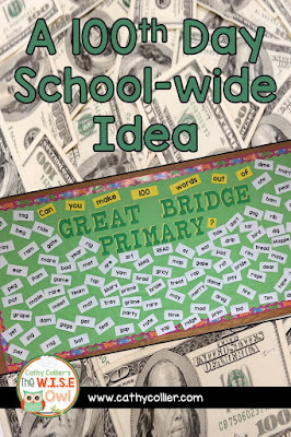 Want a new idea for 100th Day? Here's a fun school-side idea.