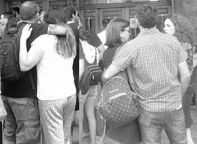 Oscuro, cruel, desolador y dramático arranque de año: abrazos y llantos entre los trabajadores y las trabajadoras de Radio Nacional. Llegan, fichan y si el sistema no los reconoce fueron despedidos
