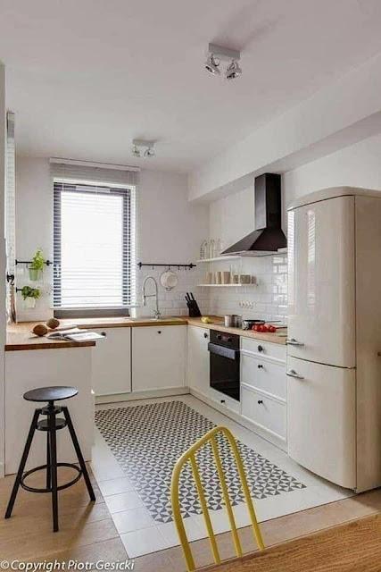 Cozinhas Brancas Com Bancada de Madeira