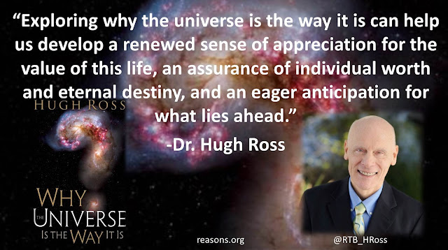 "Quote from Christian astrophysicist Dr. Hugh Ross from the book ""Why The Universe Is The Way It Is"": ""Exploring why the universe is the way it is can help us develop a renewed sense of appreciation for the value of this life, an assurance of individual worth and eternal destiny, and an eager anticipation for what lies ahead."" #knowledge #questions #life #science"