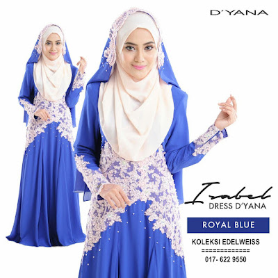 DRESS PENGANTIN NIKAH ROYAL BLUE