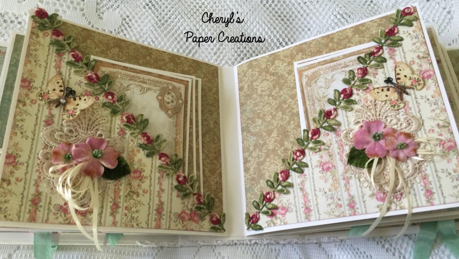 cheryl 39 s paper creations stamperia precious mini album. Black Bedroom Furniture Sets. Home Design Ideas