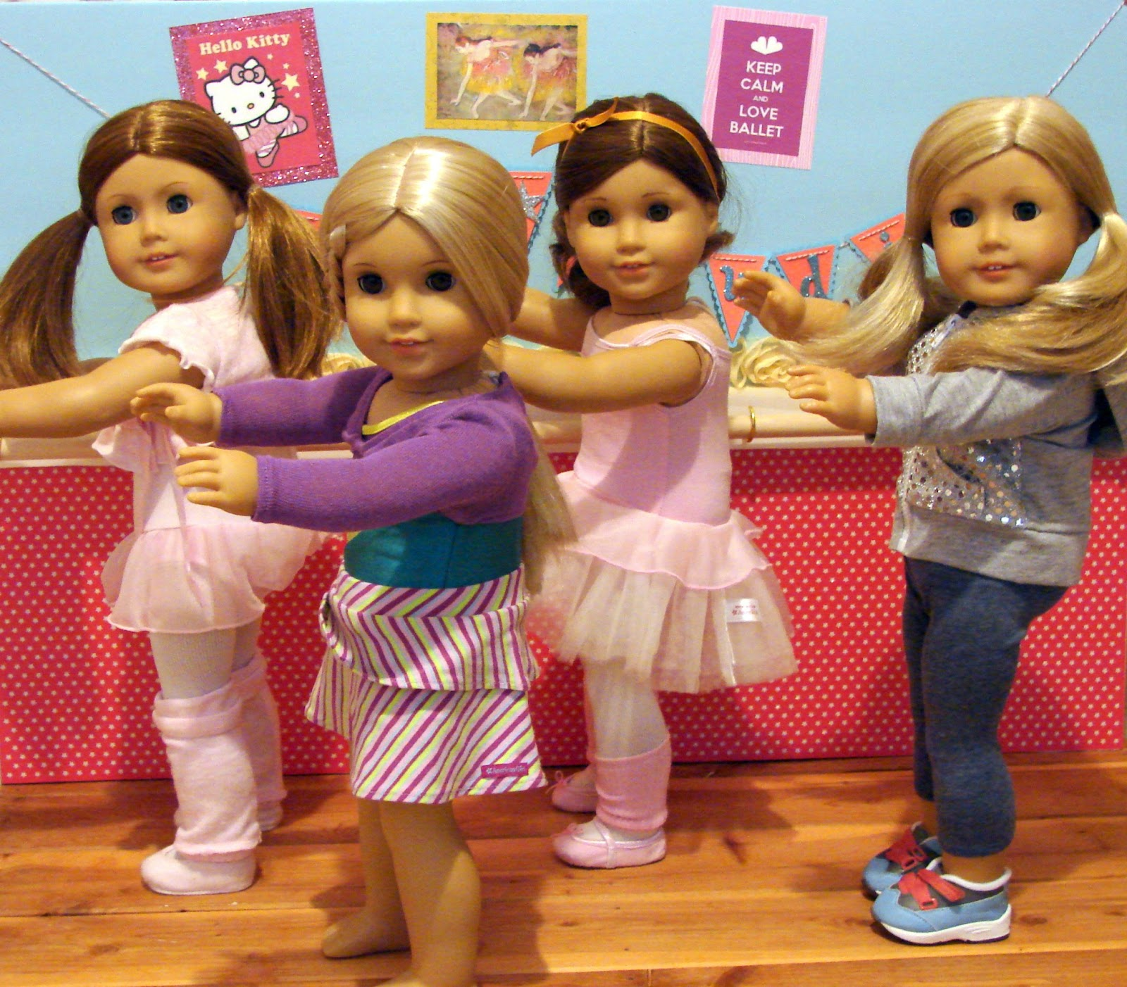american girl doll play doll crafting creating a dance studio w barre. Black Bedroom Furniture Sets. Home Design Ideas