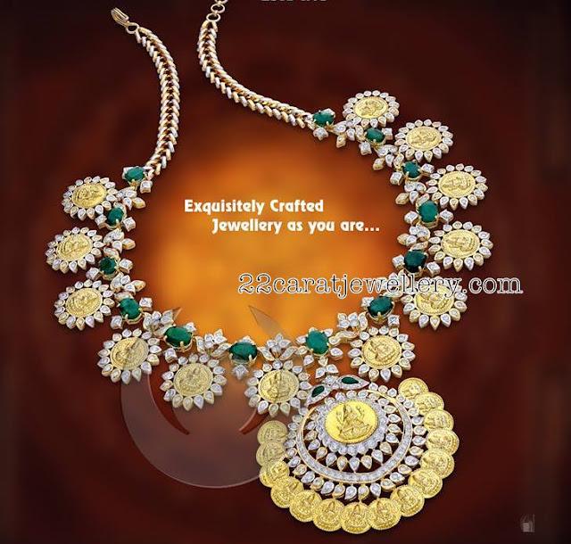 Contemporary Diamond Lakshmi Set