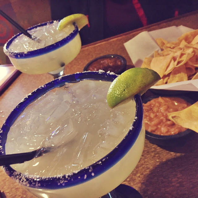 National Margarita Day! Margaritas and chips and salsa.