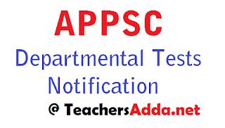 AP Departmental Tests November 2018 session Notification