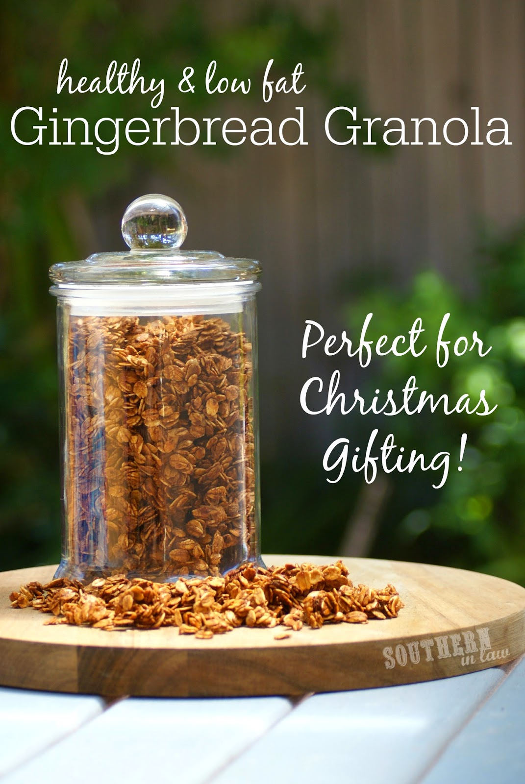 Healthy and Low Fat Gingerbread Granola Recipe