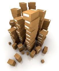 Como embalar espelho para mudança, empilhar caixas