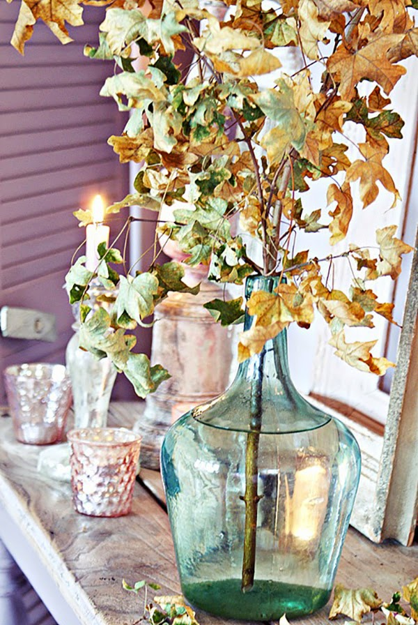 Pink and Lilac Shabby Chic Autumnal Vignette