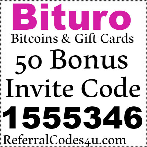 50 Bonus Points Bituro App Invite Code, Referral Code and Sign up Bonus
