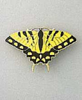 yellow tiger swallowtail butterfly pin brooch