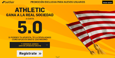 betfair Athletic gana Real Sociedad supercuota 5 Liga 21 febrero
