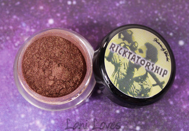 Notoriously Morbid Eyeshadow - Ricktatorship Swatches & Review