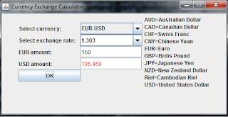 Java Programs Currency Exchange Calculator