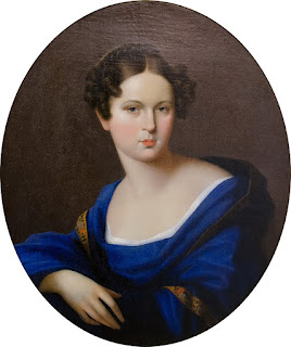 Олешкевич Иосиф Иванович «Портрет дамы в синей шали» (1810-е)