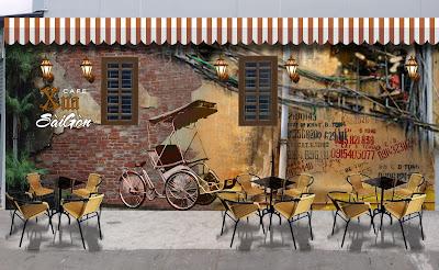 thiết kế trọn gói quán cafe trà sữa tại bình dương