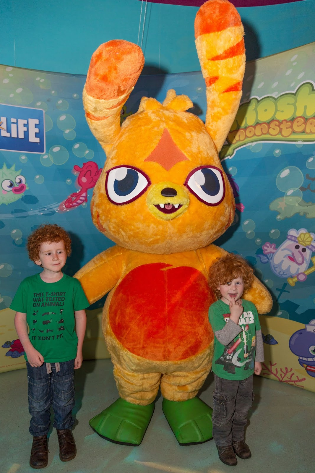 Moshi Monsters at Sea Life, Trafford Park, Manchester. Meeting Katsuma
