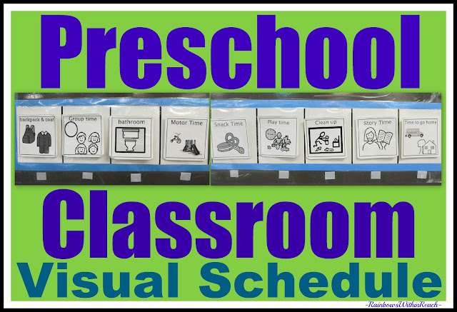 photo of: Graphic pictures for Visual Schedule, Preschool Plan in graphics