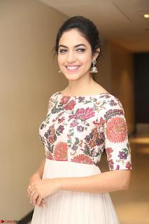 Ritu Varma smiling face Cream Anarkali dress at launch of OPPO New Selfie Camera F3 ~  Exclusive 062.JPG