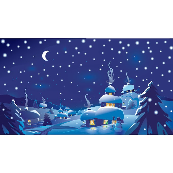 christmas party poster Winter Christmas Scene vector