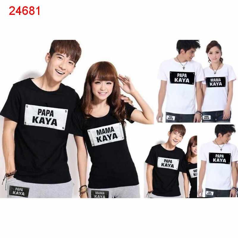 Jual Baju Couple Papa Mama Kaya - 24681