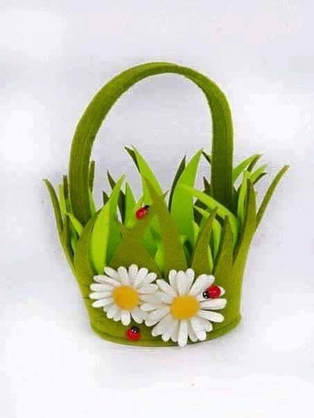 Ide membuat kerajinan menggunakan foam berbentuk tas bunga 4