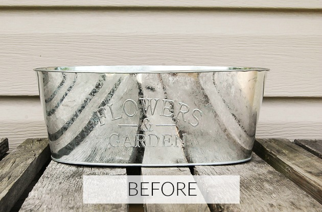 Dollar Tree planter turned farmhouse decor