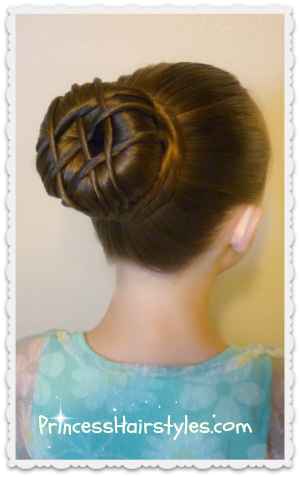 "Dance bun, ballet hair ""hot cross bun"""