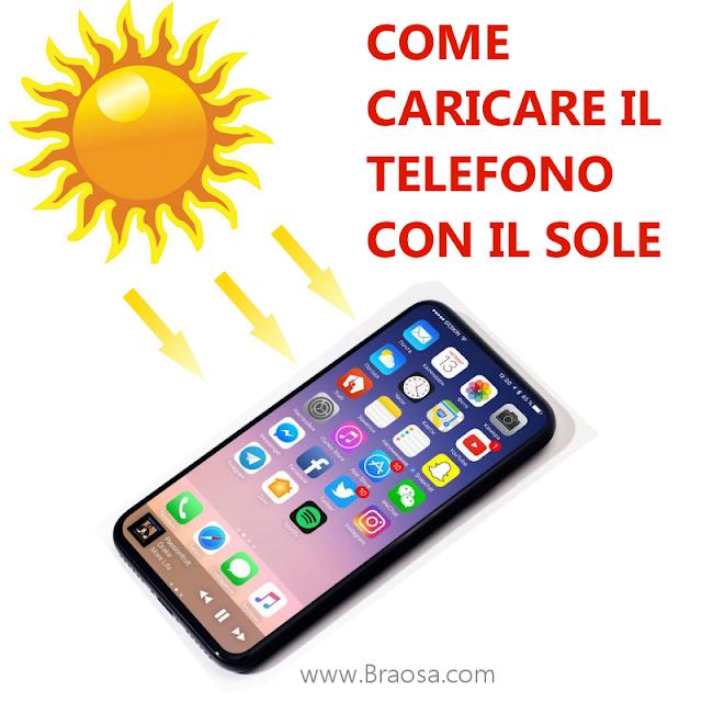 Caricare batteria telefono con il sole