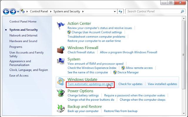 Cara Menonaktifkan Windows Update di Windows 7