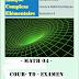 Cours Analyse complexe (Maths 4)  2 année LMD -td-examen- résume